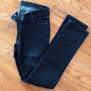 Citizen of Humanity medium rise straight leg jeans